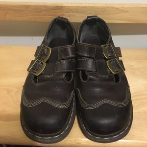Dr. Marten Cate Buckle Shoe